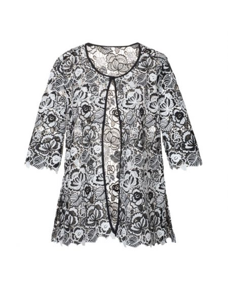 Women's Long Lace Cardigan