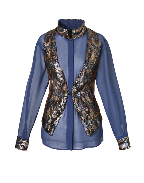 Female Paillettes embroidered gilet