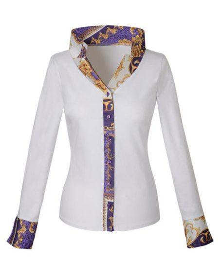Jersey πουκάμισο με baroque print λεπτομέρειες
