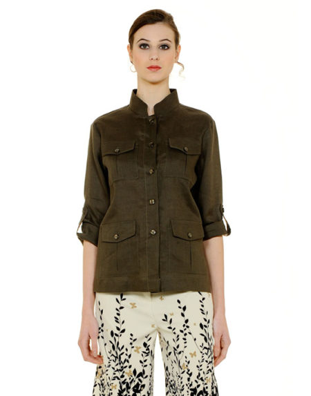 Λινό safari jacket