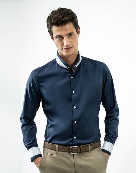 [el]Mandarin ανδρικό πουκάμισο[en]Mandarin Men's Shirt