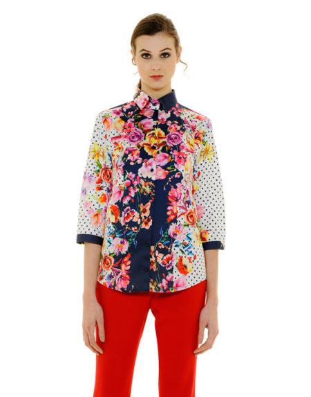 Mix & match floral πουκάμισο