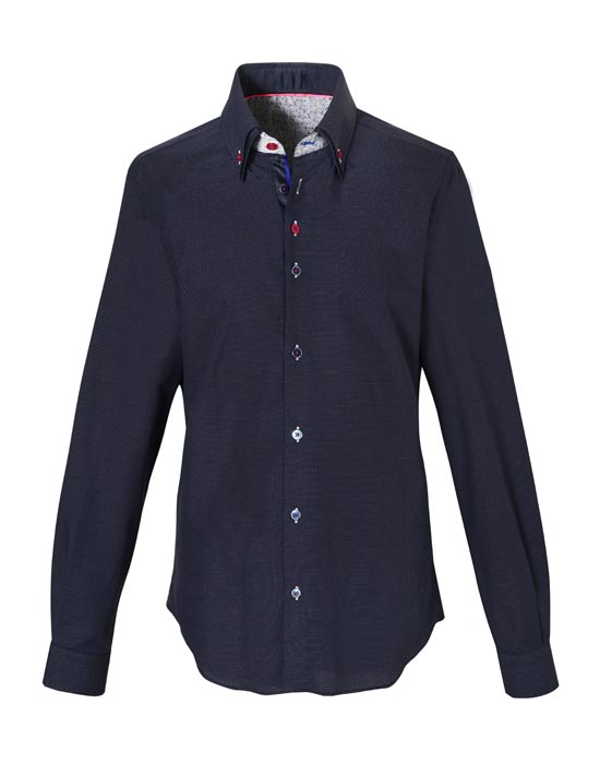 Ανδρικό πουκάμισο με διπλό button down γιακά