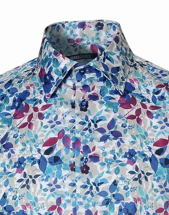 [el]Ανδρικό floral πουκάμισο | Naracamicie[en]Men's floral shirt | Naracamicie
