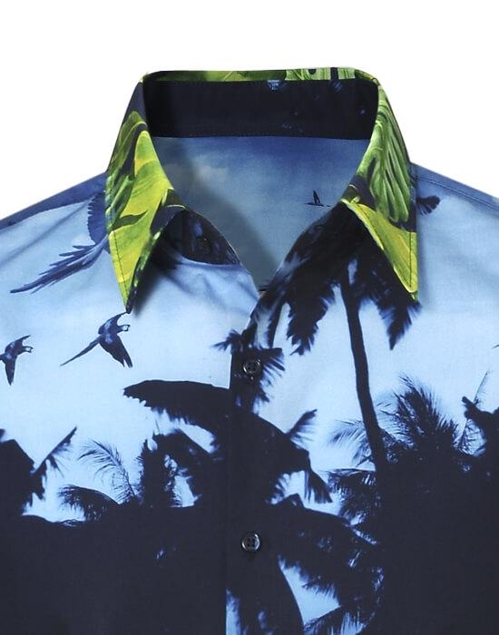 [el]Ανδρικό palm print πουκάμισο | Naracamicie[en]Men's palm print shirt | Naracamicie