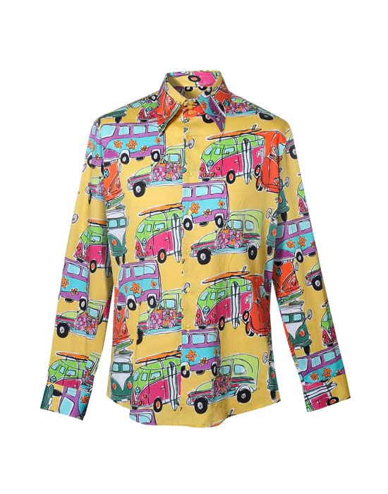 Ανδρικό πουκάμισο με fancy vw vans τύπωμα | Naracamicie