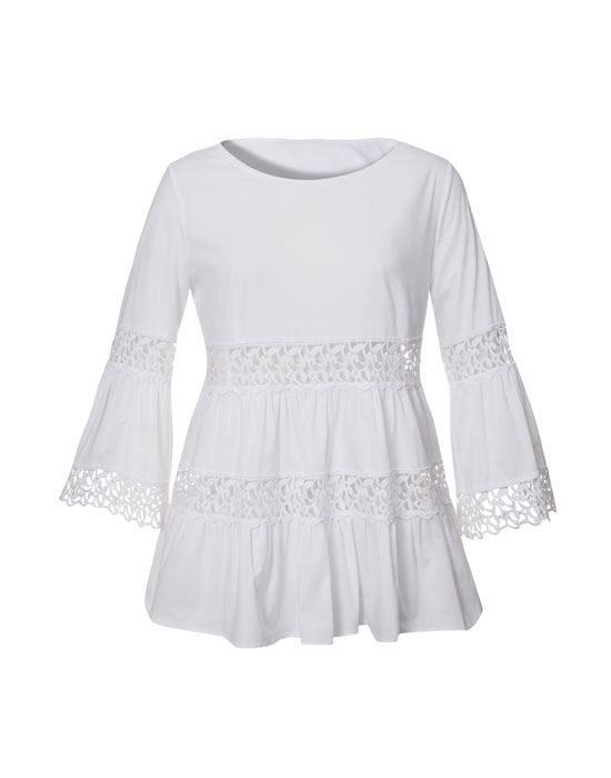 Boho βαμβακερή μπλούζα | Naracamicie