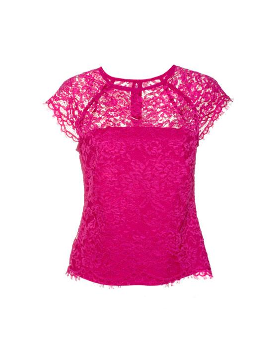 Γυναικεία chantilly dantelenia μπλούζα | Naracamicie