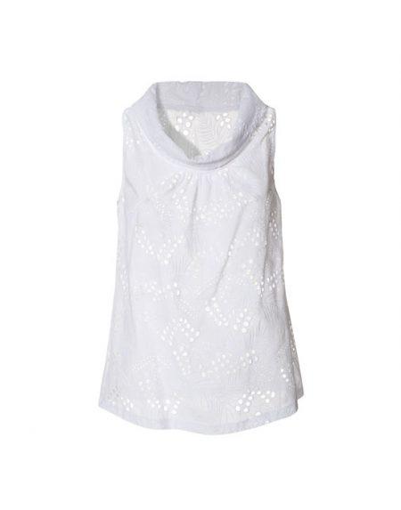 Women's col roule sangallo blouse | Naracamicie