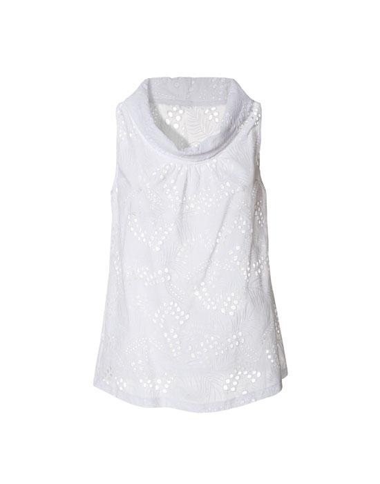 Γυναικεία col roule sangallo μπλούζα | Naracamicie