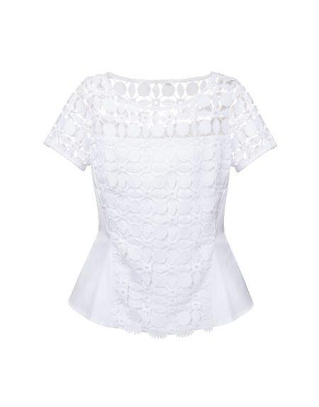 Γυναικεία δαντελένια swing cut μπλούζα  | Naracamicie