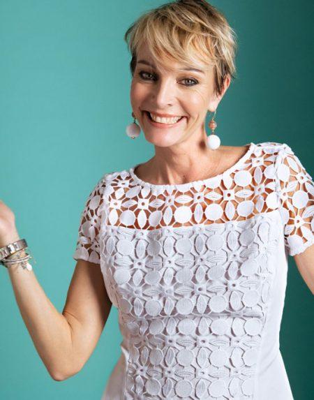 Γυναικεία δαντελένια swing gut μπλούζα | Naracamicie