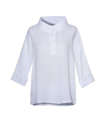 Γυναικεία λινή polo tunic | Naracamicie