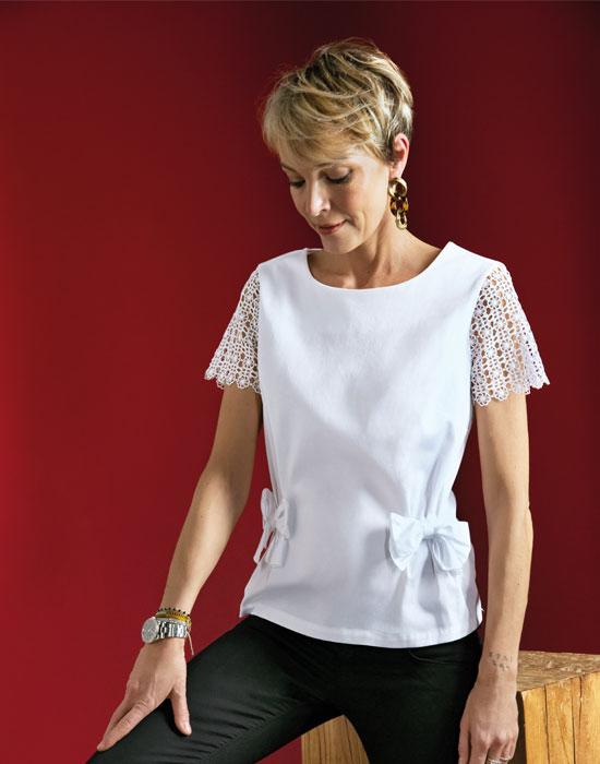 [el]Γυναικεία μπλούζα με φιόγκους | Naracamicie[en]Women's blouse with bows | Naracamicie
