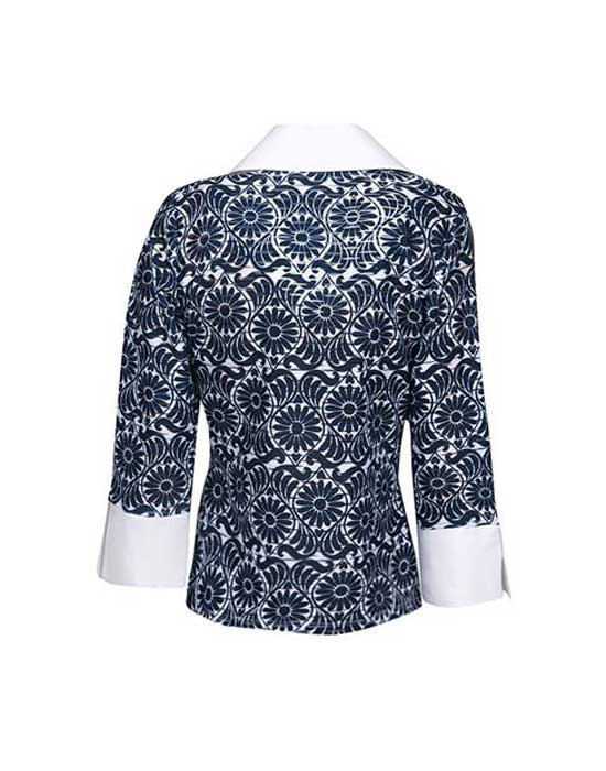 [el]Γυναικεία onde krouaze μπλούζα | Naracamicie[en]Women's onde krouaze blouse | Naracamicie