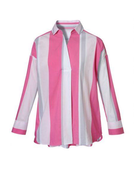 Γυναικεία ριγέ polo tunic | Naracamicie