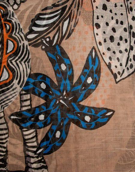 Γυναικεία σάρπα με tropical τύπωμα | Naracamicie