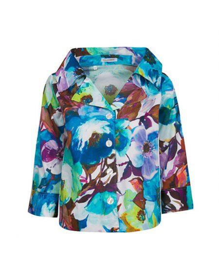 Γυναικείο floral πουκάμισο ζακέτα | Naracamicie
