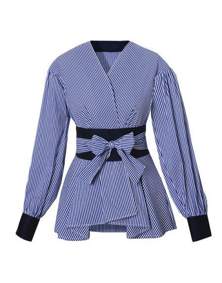 Γυναικείο cruaze ριγέ πουκάμισο | Naracamicie