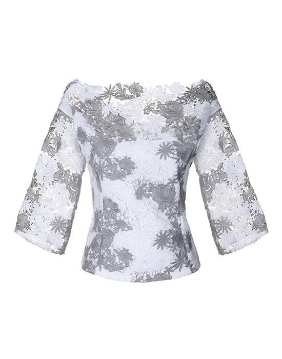 Γυναικείο makrame δαντελένιο πουκάμισο | Naracamicie