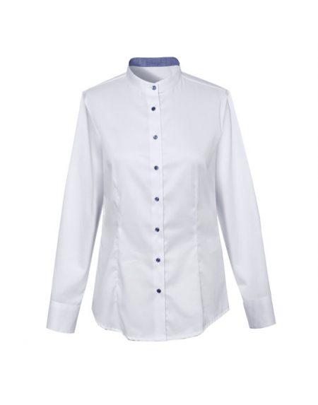 Γυναικείο mandarin collar πουκάμισο  | Naracamicie