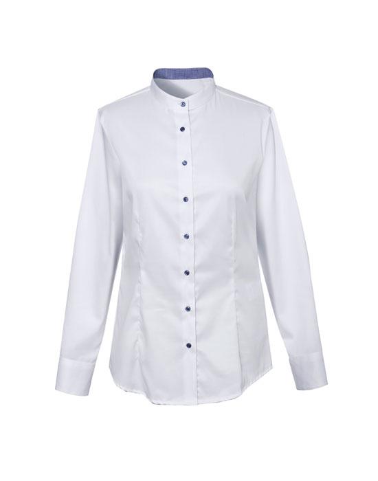 Γυναικείο mandarin collar πουκάμισο    Naracamicie
