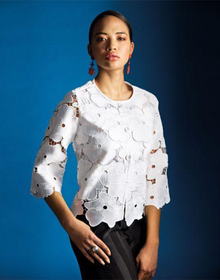 Γυναικείο πουκάμισο με απλικέ motif | Naracamicie