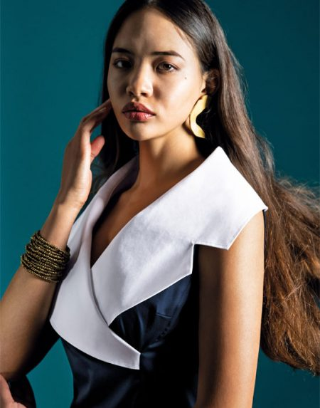 Πουκάμισο με μεγάλο shawl γιακά | Naracamicie