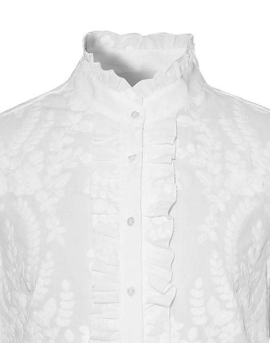 [el]Γυναικείο retro chic Πουκάμισο με volan | Naracamicie[en]Women's retro chic Shirt with volan | Naracamicie