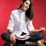 Γυναικείο retro chic πουκάμισο με βολάν | Naracamicie