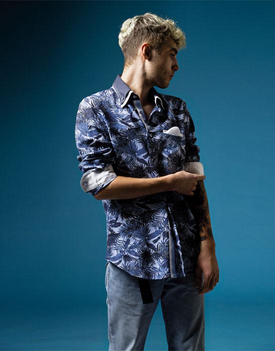 [el]Πουκάμισο με διπλό Button down γιακά | Naracamicie[en]Exotic print shirt, double button-down collar | Naracamicie
