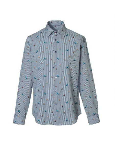 Cotton shirt, botanical print | Naracamicie