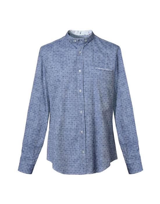 Micro print βαμβακερό πουκάμισο | Naracamicie