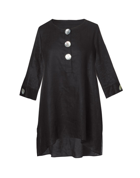 Γυναικεία ασύμμετρη λινή tunic | Naracamicie