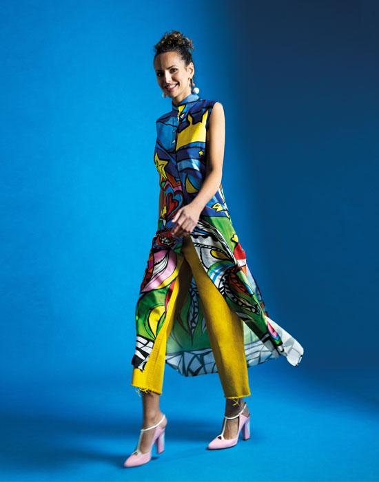 [el]Γυναικεία maxi tunic με opera di arte τύπωμα | Naracamicie[en]Women's maxi tunic with opera di arte print | Naracamicie