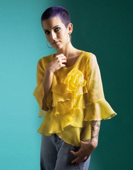 Silk organza blouse | Naracamicie