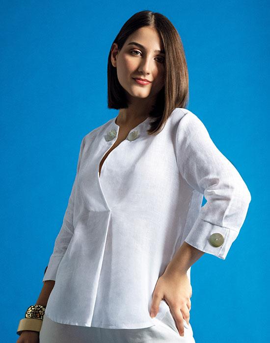 [el]Γυναικεία oversize λινή tunic | Naracamicie[en]Women's oversize linen tunic | Naracamicie