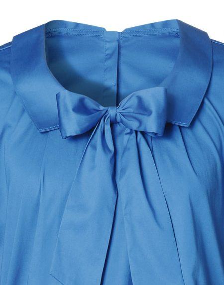 Γυναικεία satine μπλούζα με φιόγκο | Naracamicie