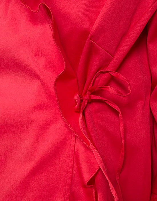 [el]Κρουαζέ πουκάμισο με μικρά frill | Naracamicie[en]Cotton blend blouse with ruffled trim and side closure | Naracamicie