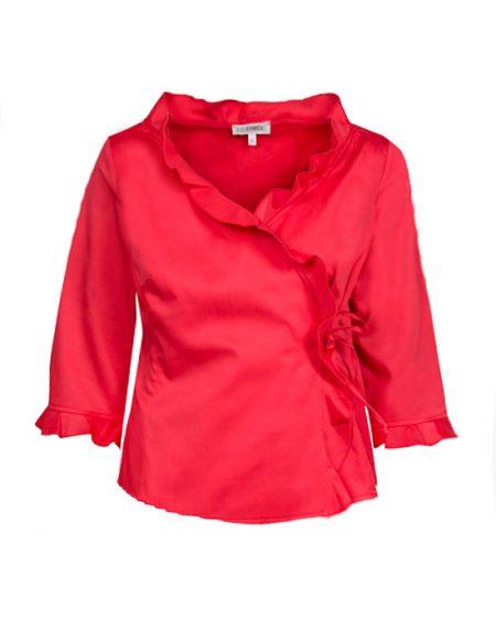 Κρουαζέ πουκάμισο με μικρά frill | Naracamicie