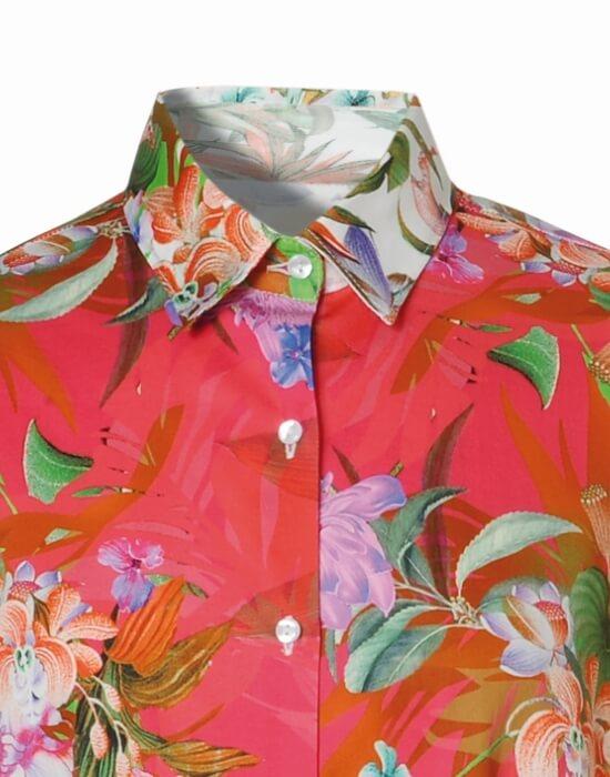 [el]Γυναικείο oversize floral πουκάμισο | Naracamicie[en]Women's oversize floral shirt | Naracamicie
