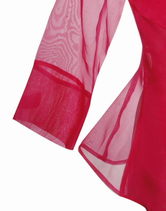 [el]Γυναικείο πουκάμισο σε μεταξωτή οργάντζα με φιόγκο | Naracamicie[en]Women's shirt in silk organza with bow | Naracamicie