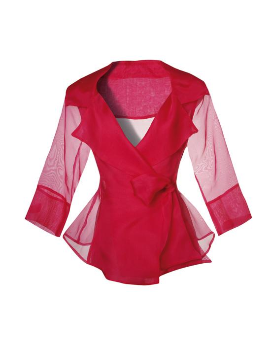 Γυναικείο πουκάμισο σε μεταξωτή οργάντζα με φιόγκο | Naracamicie