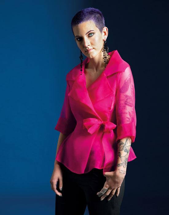 [el]Πουκάμισο σε μεταξωτή οργάντζα με φιόγκο | Naracamicie[en]Silk organza blouse with side closure | Naracamicie