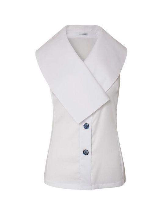 Αμάνικο πουκάμισο με shawl γιακά Nara Camicie