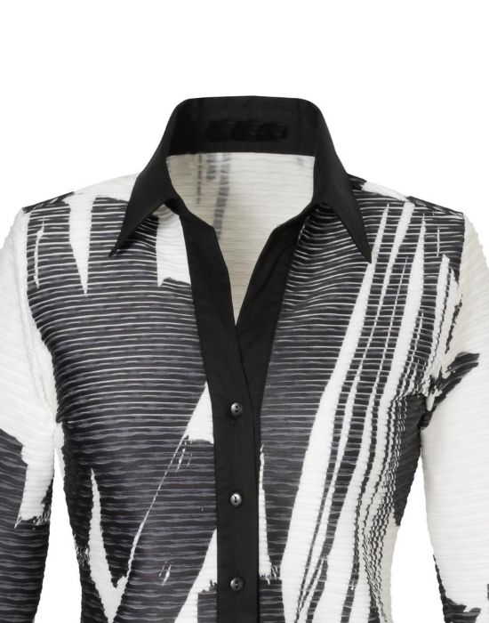 [el]Δίχρωμο πουκάμισο σε ανάγλυφο onde Nara Camicie[en] Bicolor shirt in relief onde NaraCamicie