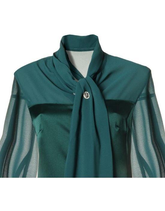 [el]Corset πουκάμισο με σάρπα NaraCamicie [en] Corset shirt with foulard NaraCamicie