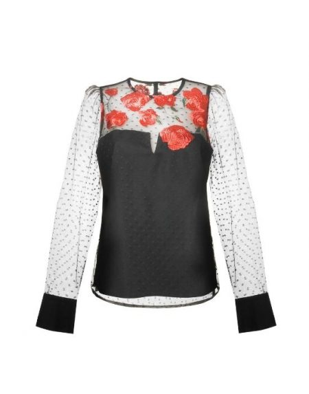 Double-layered τούλινη μπλούζα NaraCamicie