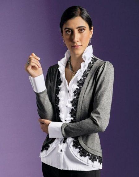 Jersεy πουκάμισο με βαμβακερό μπλαστρόν Nara Camicie