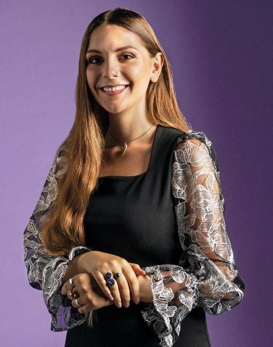 [el]Jersey-tulle γυναικεία μπλούζα NaraCamicie [en] Jersey-tulle woman blouse NaraCamicie